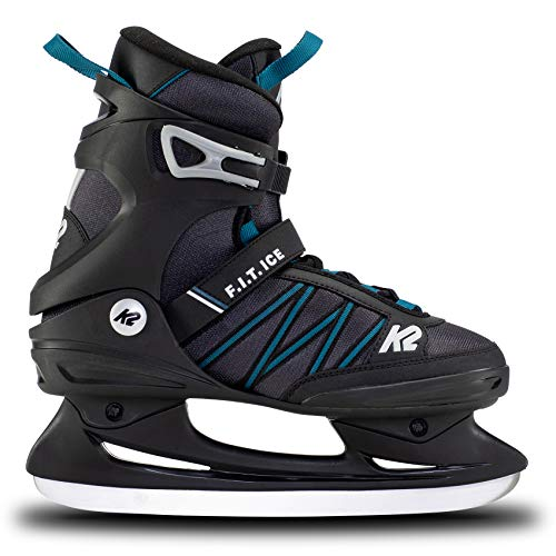 K2 Skates Herren Schlittschuhe F.I.T. Ice — Black – Blue — EU: 45 (UK: 10.5 / US: 11.5) — 25E0030