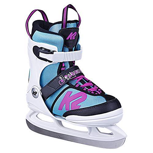 K2 Skates Mädchen Schlittschuhe Juno Ice — white – light blue — EU: 35 – 40 (UK: 3 – 7 / US: 4 – 8) — 25D0304